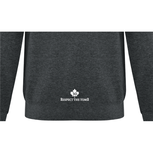 Hoodie | Unisex | Active Blend | Dark Heather | Logo: Georgian Bay Destinations - Back 2