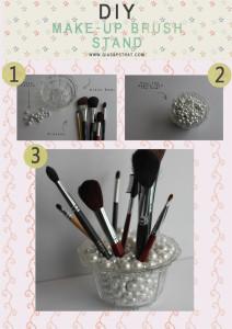DIY TUTORIAL Make Up Brush Stand