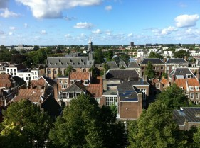 a view from the top of Pieterskerk