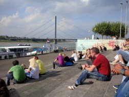 Sitting along the Rhine