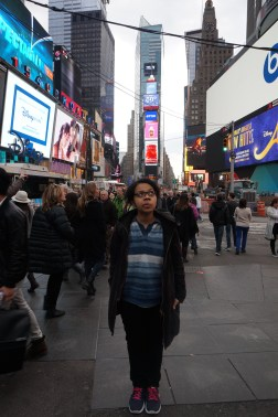 Yes, the famous Times Square reminds me how lost I can be