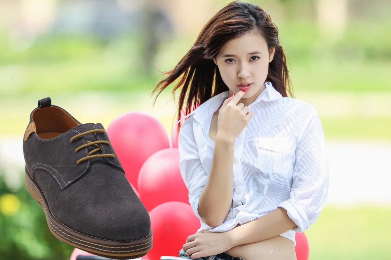 hotgirl nói gì về giày nam,giay tang chieu cao