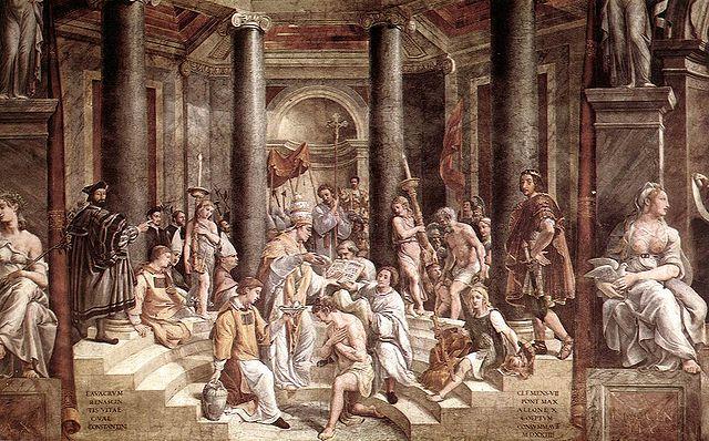 A Igreja Católica - os Imperadores tinham abandonado a unidade religiosa, com a renúncia de Aureliano a seus direitos divinos