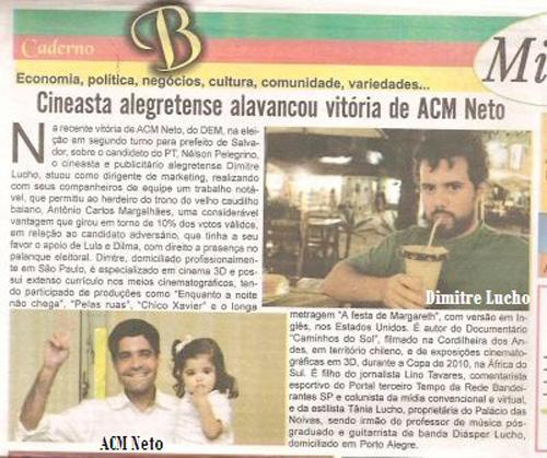 Alegretense Alavanca Vitória de ACM Neto na Bahia