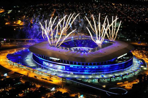 Fogos na Festa de Inauguração da Arena do Grêmio