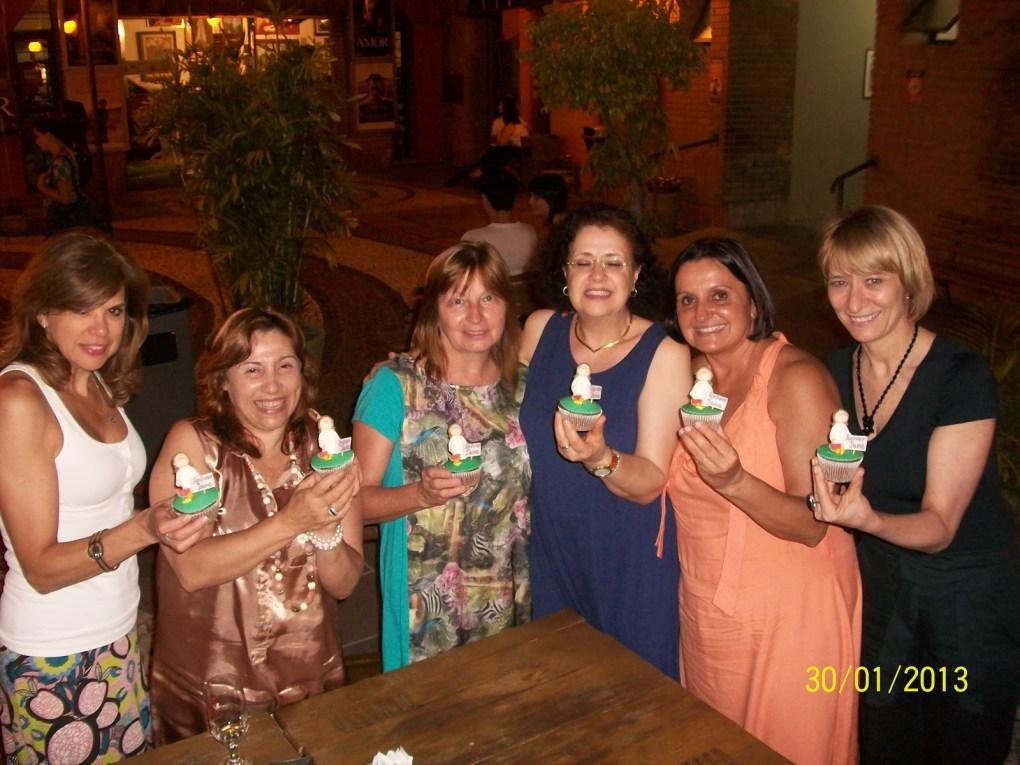 Da esquerda - Mara, Maristela, Jaci, aniversariante JANE, Maria e Lourdes