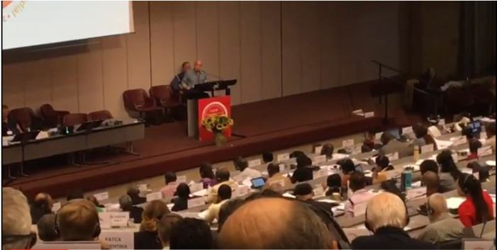 Antonio Carlos Fernandes Entrega em Genebra Denuncia Contra a Reforma Trabalhista
