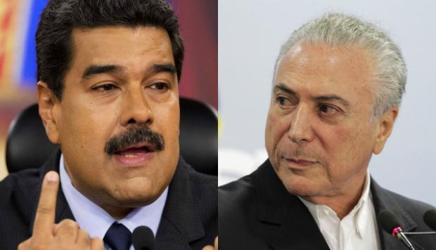 Temer está Maduro para cair. Maduro tem tudo a Temer