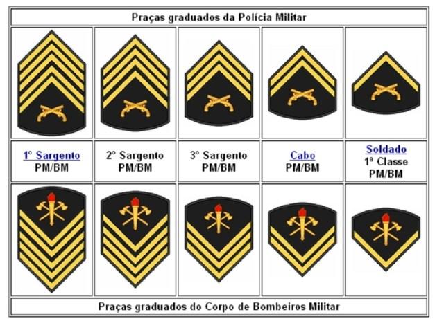 Os Grandes Comandos da Polícia Militar do Estado de São Paulo, estão divididos em Capital, Metropolitano, Choque, Interior 1 ao 10, Rodoviário, Ambiental e Bombeiros