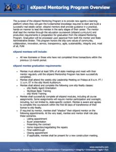 eXp Mentoring Program Overview