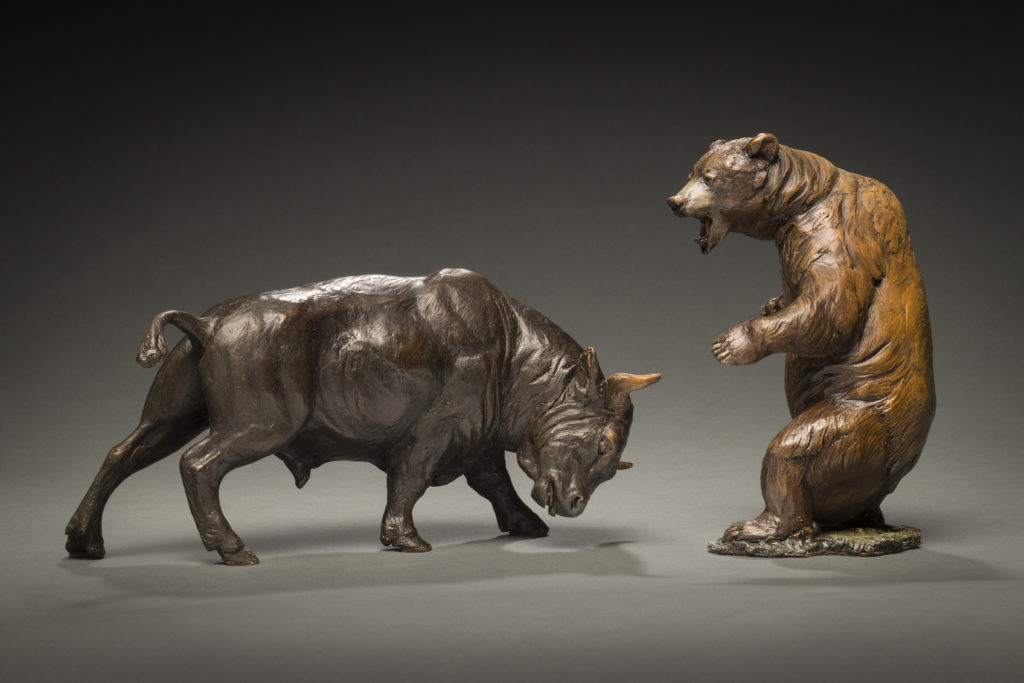 Bull and Bear - Bronze Sculpture