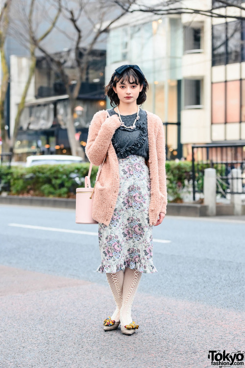 Tokyo street style personality Alice on the street in Harajuku…