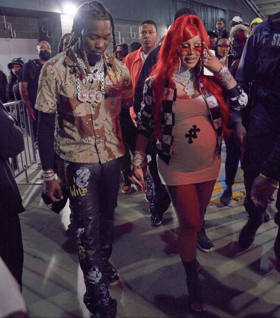 Cardi B Performs at Hot 97's Summer Jam with Migos Wearing Chrome Hearts Look
