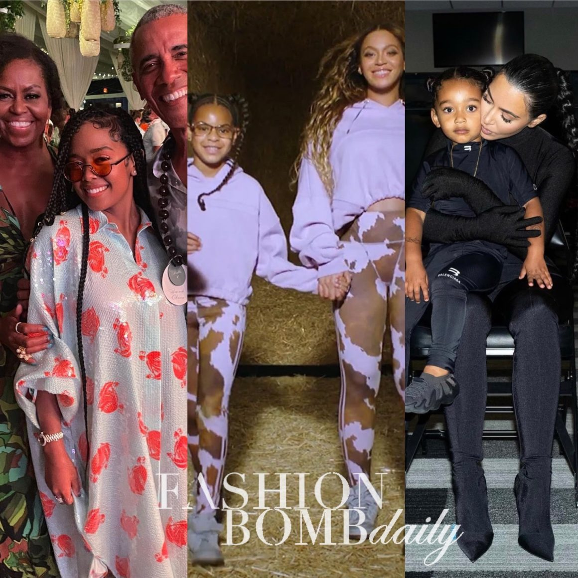 Look of the Week: Beyoncé and Kids in IVY PARK x adidas 'IVY PARK Rodeo', H.E.R. in Lanvin With Barack Obama in Fendi and Michelle Obama in Dundas, Kim Kardashian in Balenciaga + More