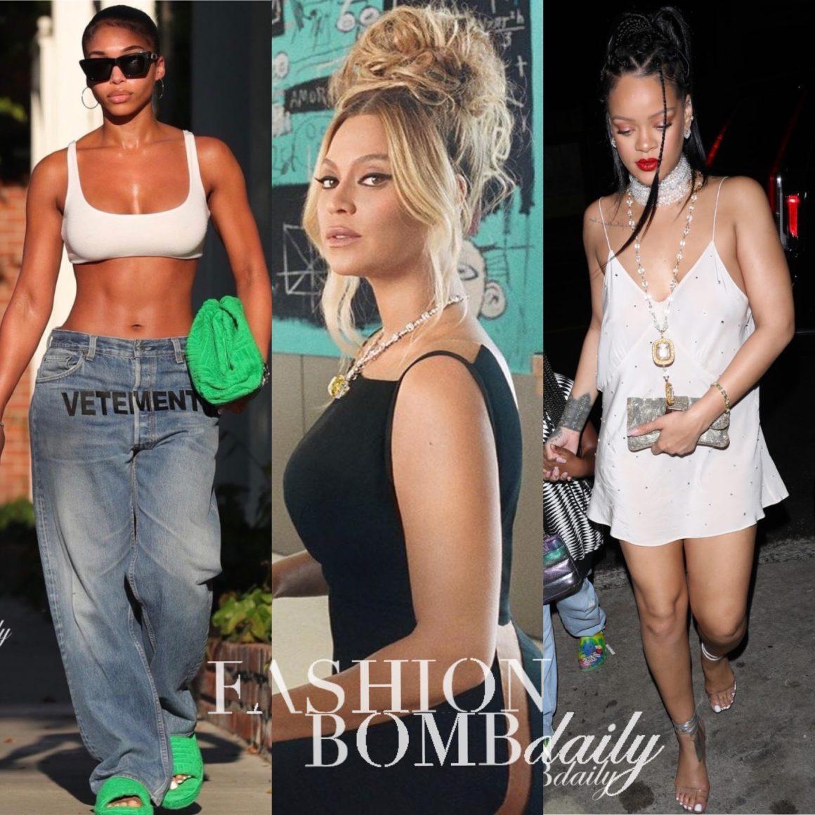 Look of the Week: Beyoncé in Balmain, Rihanna in Miu Miu, Lori Harvey in Vetements Jeans + More