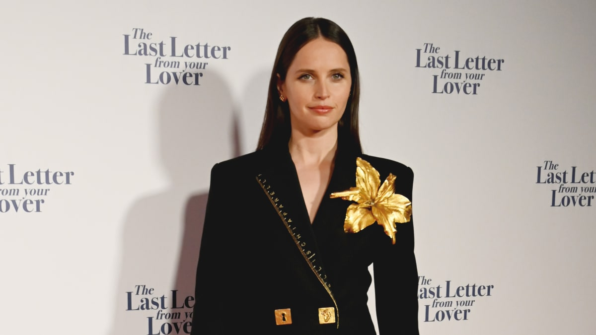 Great Outfits in Fashion History: Felicity Jones in a Schiaparelli Suit