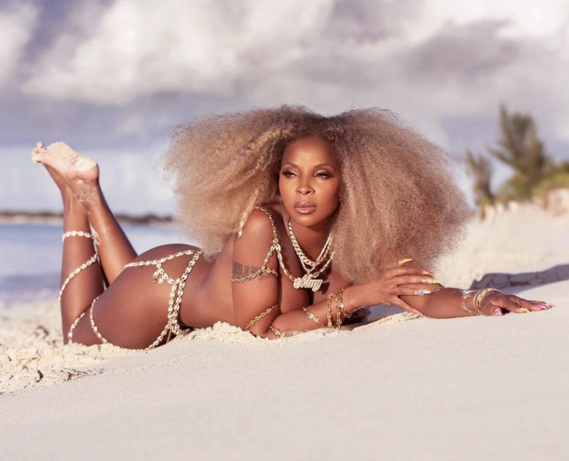 Mary J. Blige Rocks Custom Laurel DeWitt Body Chain for Latest Beach Photoshoot