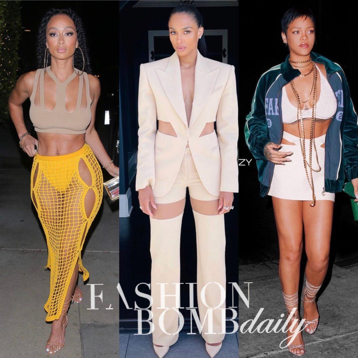How to Wear Cutouts and the Strappy Trend as Seen on Rihanna, Ciara, Draya Michele and More