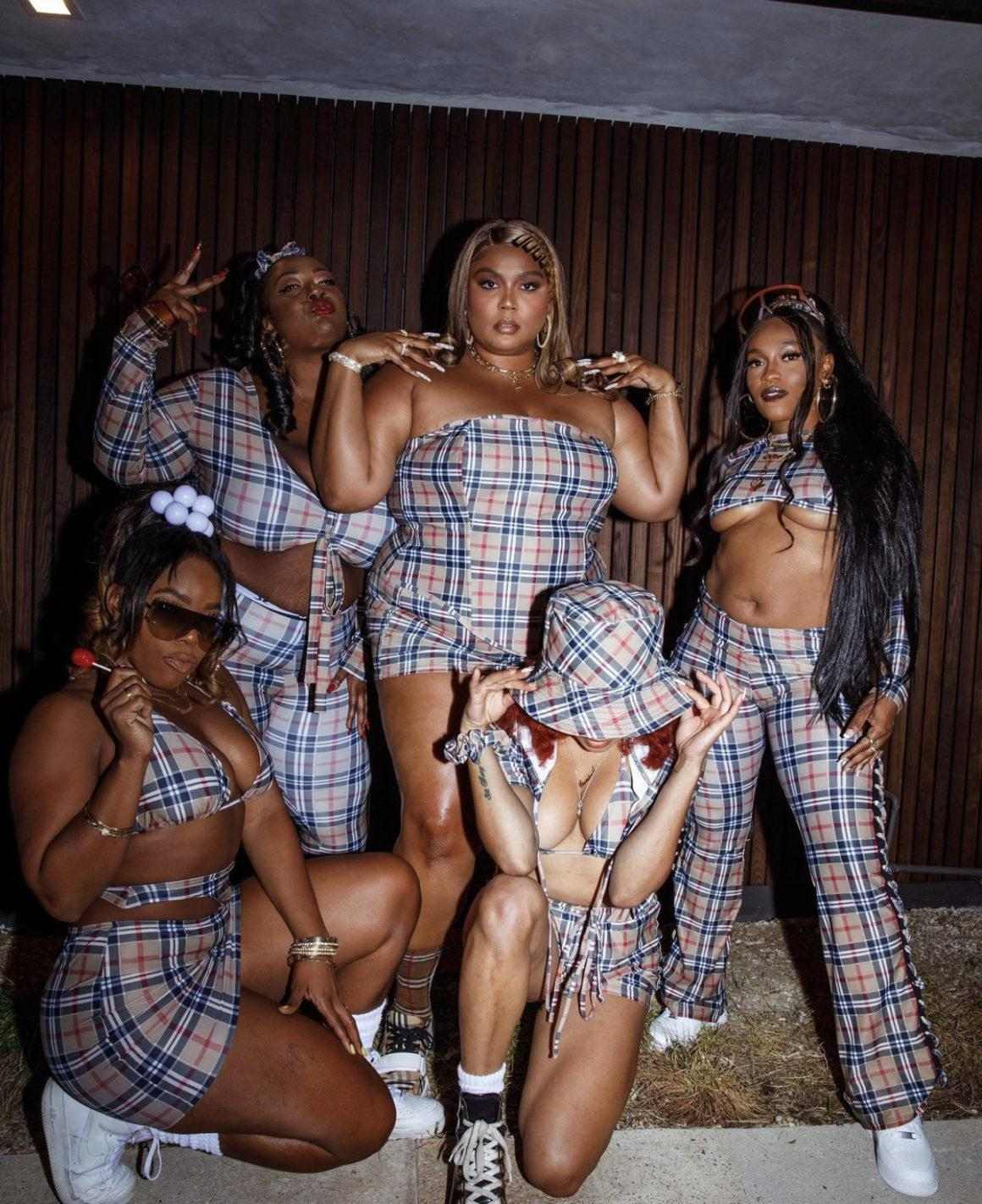 Lizzo and Her Girls Show Out at the Millennium Tour Wearing B2K-Inspired Burberry Outfits