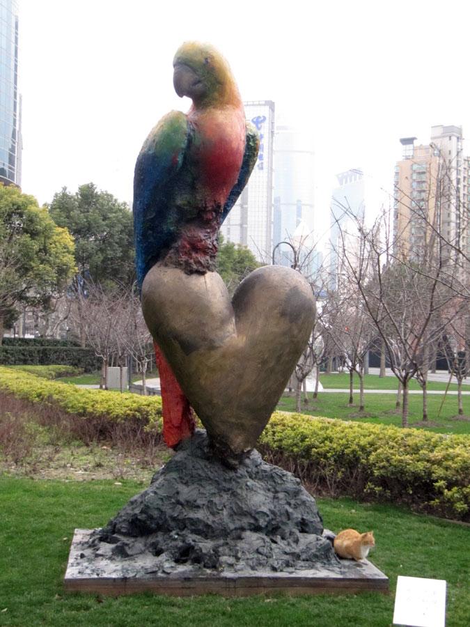 Jing'an Sculpture Park, Large Parrot Screams Color
