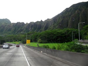 Volcanic ridges in Hawaii Kai