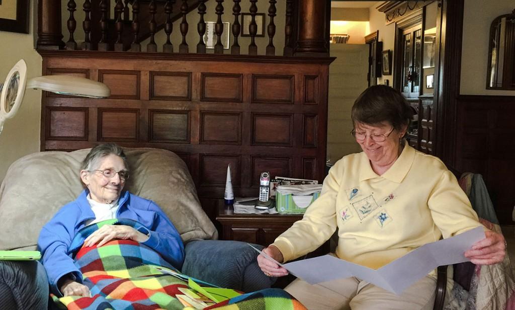 Bev and Camilla on Bev's 85th birthday