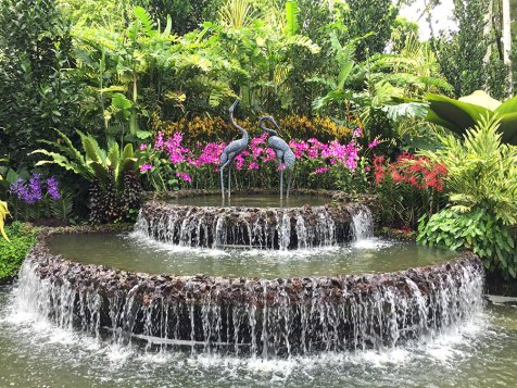 Singapore Botanic Gardens - Fountain in the Orchid Garden