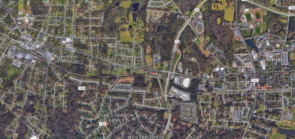 Gibsonville & Elon Aerial