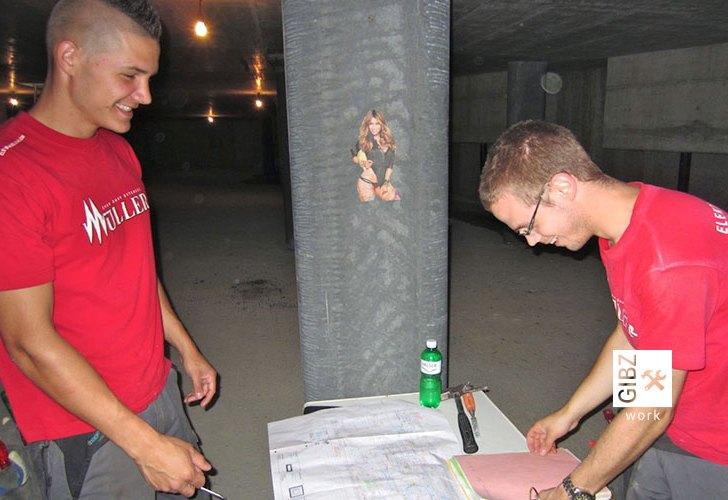 ABU-Lehrer auf der Baustelle