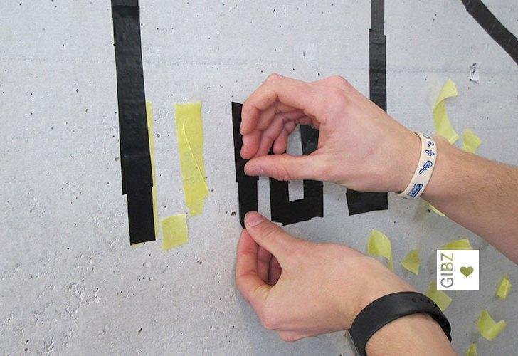 Wenn Wände Augen haben… Tape Art-Projekt der Automobilmechatroniker 3