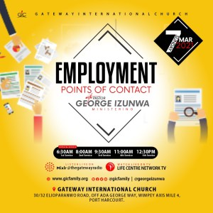 Employment Points of Contact with Pastor George Izunwa