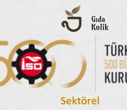 Türkiye'nin En Büyük 100 Sanayi Kuruluşlarında Gıda, Tarım ve Hayvancılık
