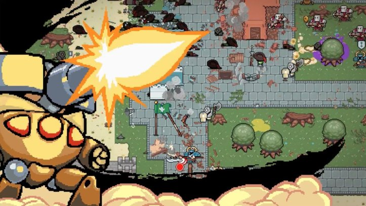 Wood Punk retro roguelike shooter. Theo