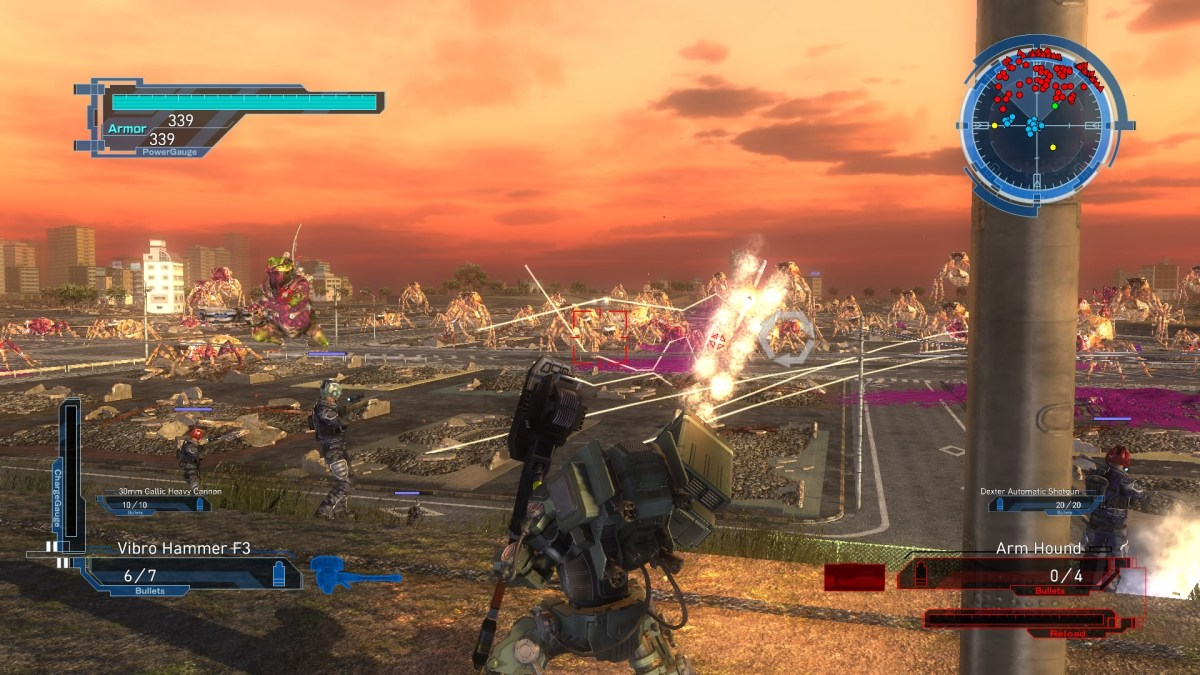 EARTH DEFENSE FORCE 5 Swarm of spiders