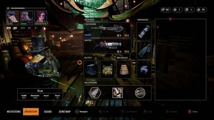 Mutant year zero inventory
