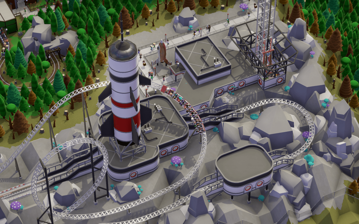 An industrial theme park in Parkitect