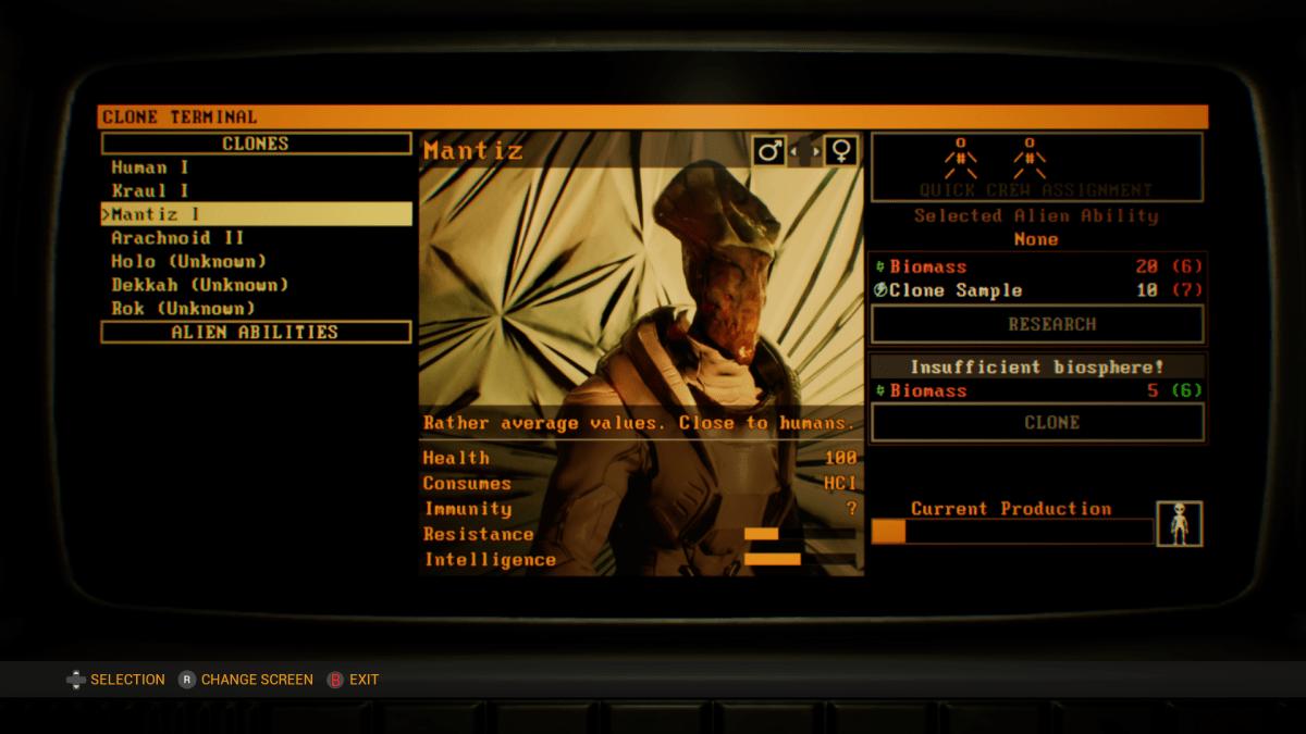 Clone screen in Genesis Alpha One.