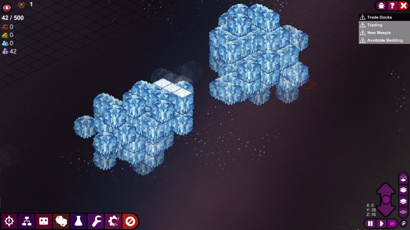 An asteroid cluster in Meeple Station.