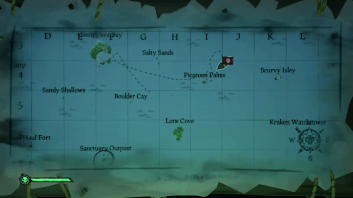 sea of thieves map screen