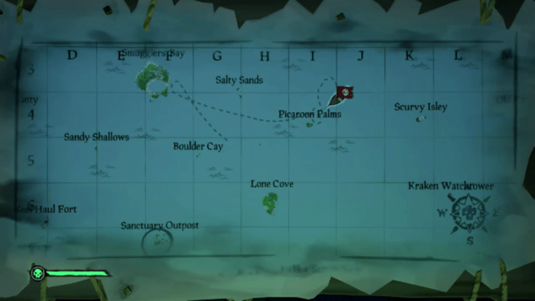 sea of thieves map