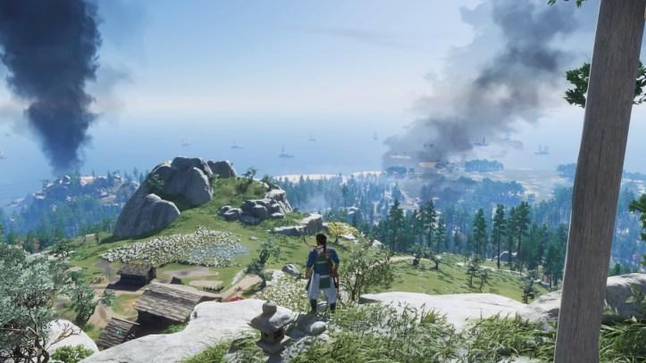 Jin overlooks the beautiful landscape