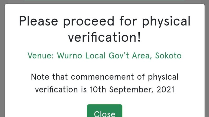 UPDATE! Npower Physical Verification To Commence On The 10th September