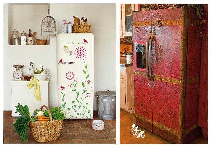 основу как можно украсить холодильник своими руками фото даже