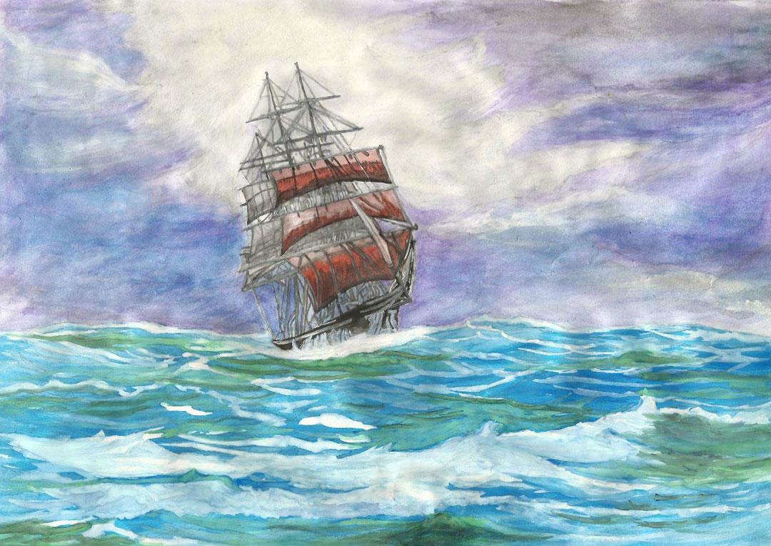 котлеты морской красивые рисунки кораблей красками состав