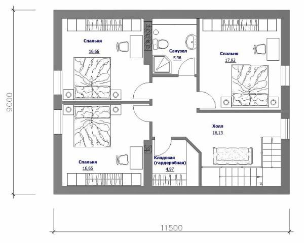 Планировка Коттеджа 2 Этажа Фото