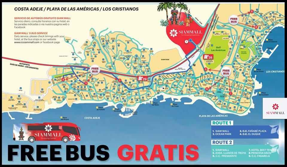 Бесплатные автобусы в Siam Mall
