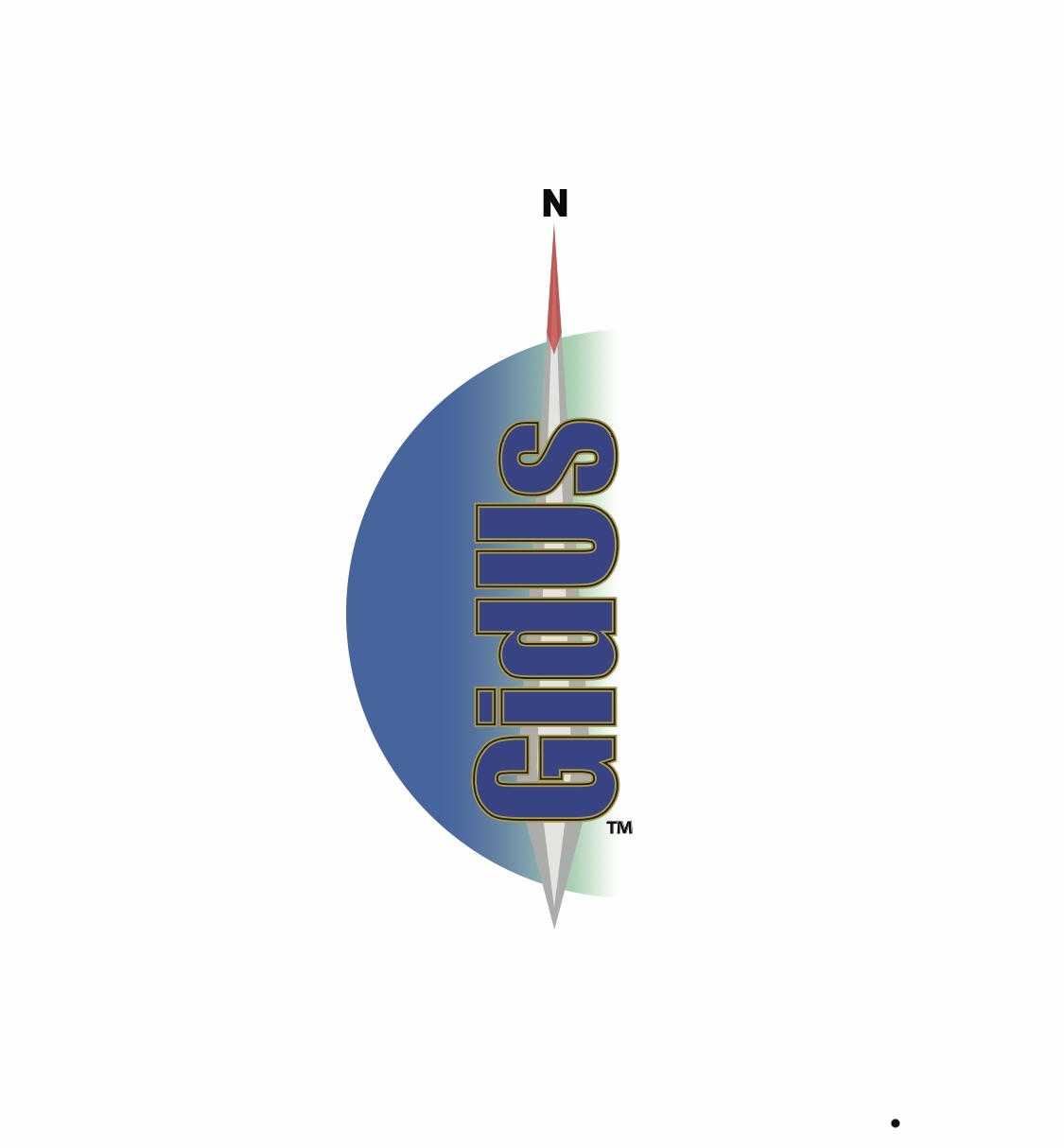 GīdUs Solutions logo with half compass with a needle and company name pointing north and