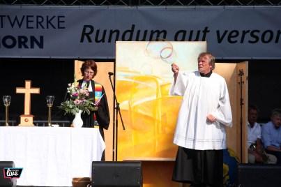 Foto: Sebastian Preuss, Altstadtfest 2018, Bühne Rathaus, Ökumenischer Gottesdienst