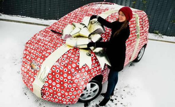 Wrapped Car and More Outrageous Gift Wrapping Ideas