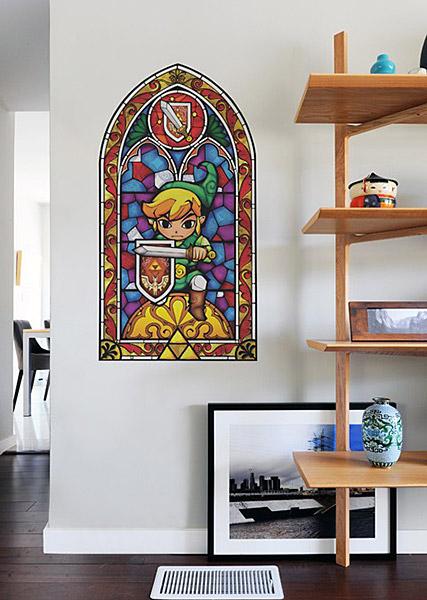 Zelda Stained Glass Window Decal + More Legend of Zelda Stocking Stuffers